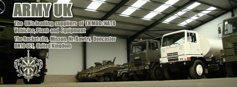 Ex army vehicles for sale. MOD direct sales, used military trucks, loaders, trailers, Land Rovers, amphibious. The UK